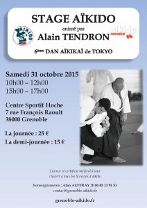 Alain Tendron Grenoble - 31 octobre 2015